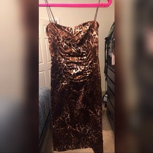 Nicole Miller Leopard Print Sheath Dress
